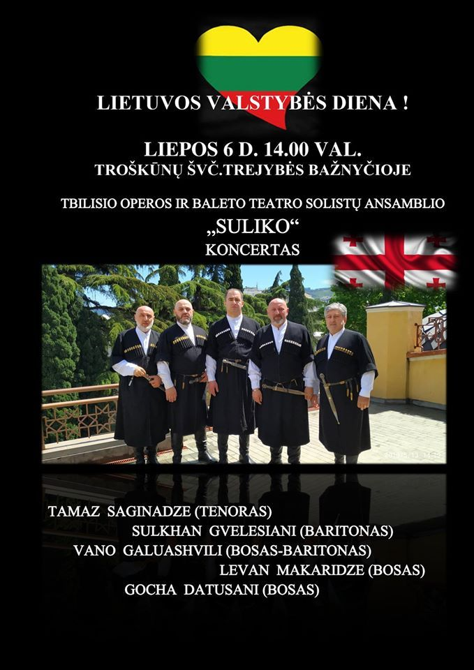 "Tbilisio Operos ir baleto teatro solistų ansamblio ""Suliko"" koncertas"