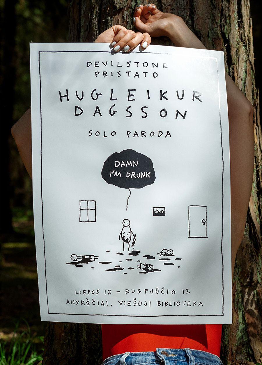 """Festivalis """"Devilstone"""" (2019) / Islandų menininko Hugleikur Dagsson komiksų paroda"""