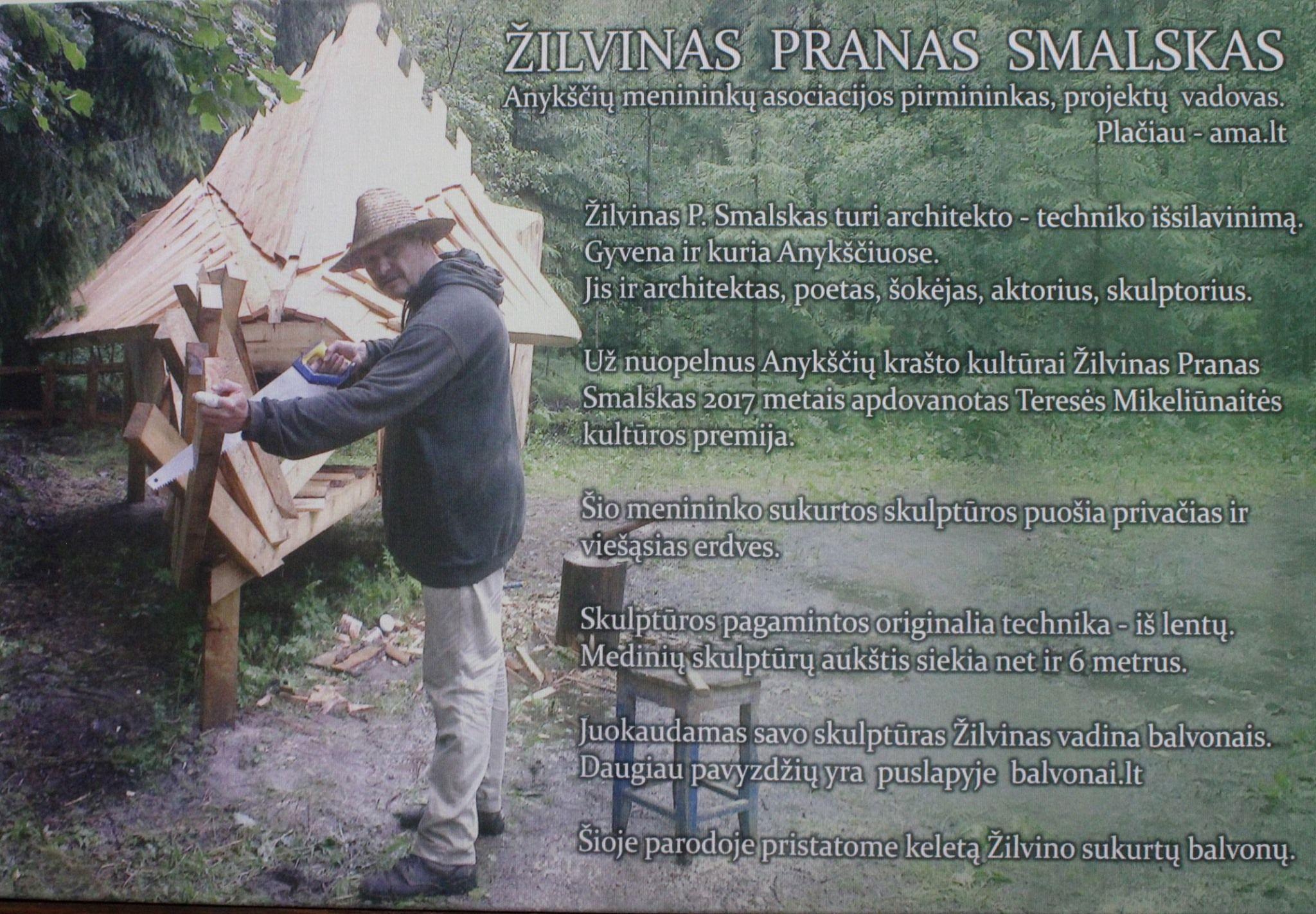 Žilvino Prano Smalsko medinių skulptūrų fotografijų paroda