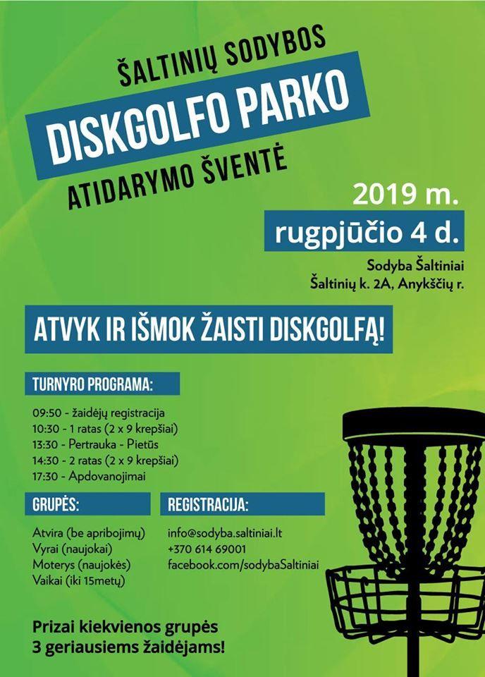 Diskgolfo parko atidarymas!