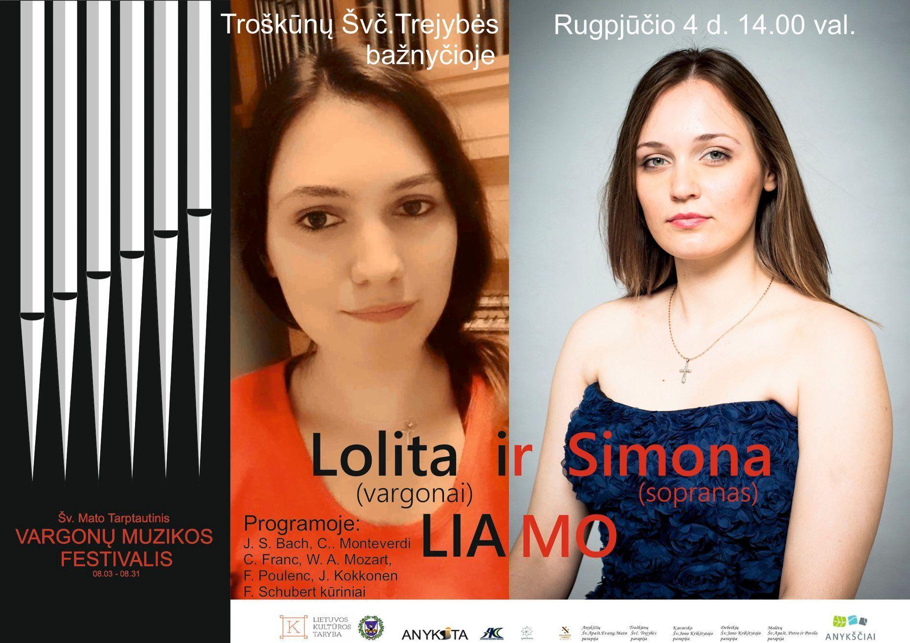 Šv. Mato tarptautinis vargonų muzikos festivalis / Koncertuoja Simona Liamo (sopranas) ir Lolita Liamo (vargonai)