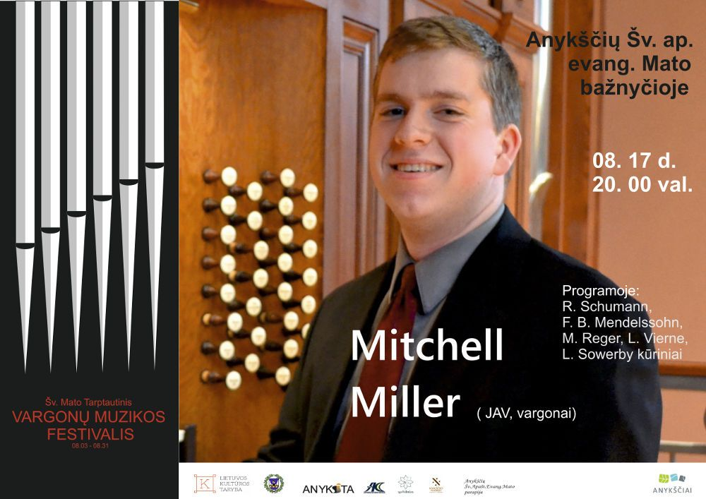 Šv. Mato tarptautinis vargonų muzikos festivalis (2019) / Mitchell Miller (JAV)