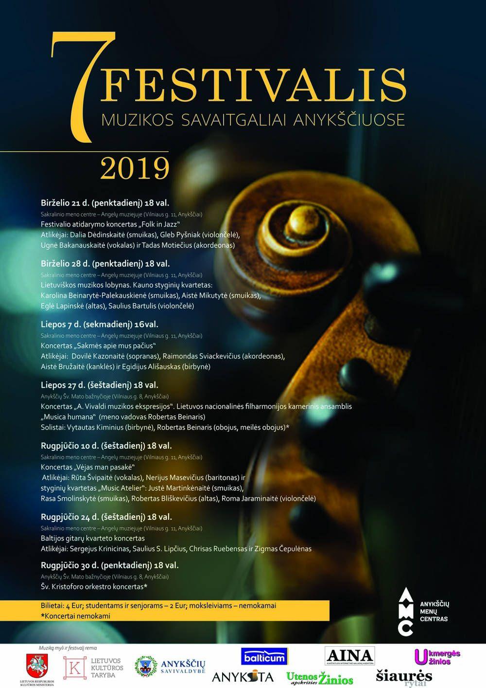 """Festivalis """"Muzikos savaitgaliai Anykščiuose"""" (2019) / Šv. Kristoforo orkestro koncertas"""