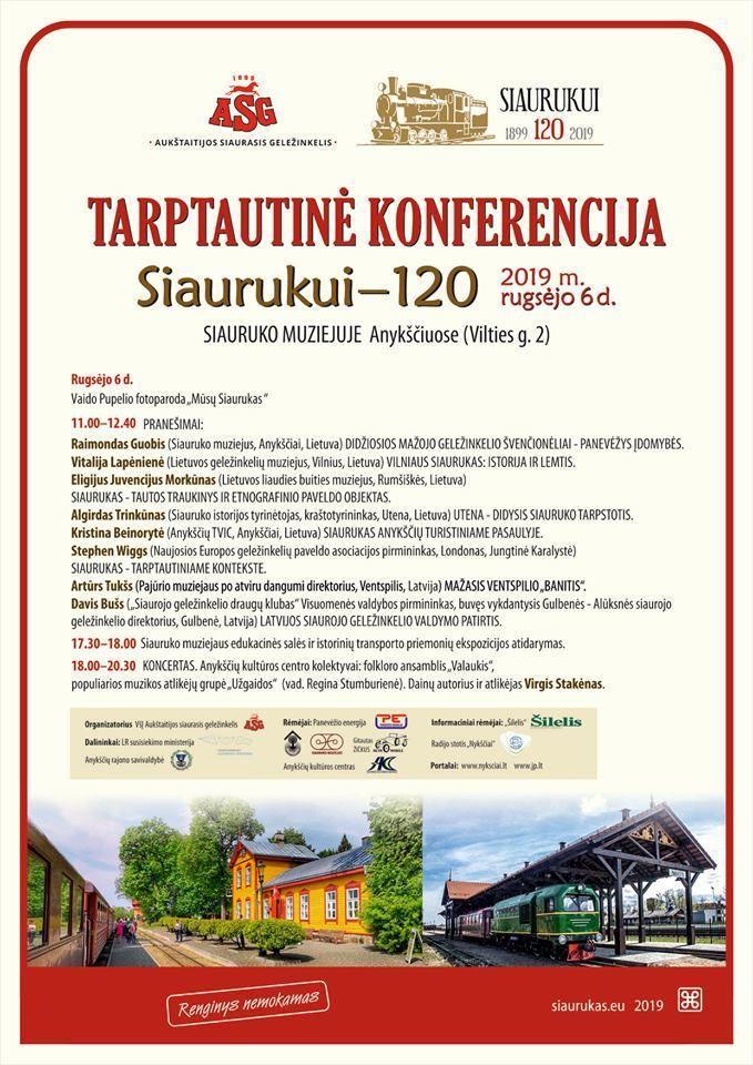 """Tarptautinė konferencija """"Siaurukui - 120"""""""
