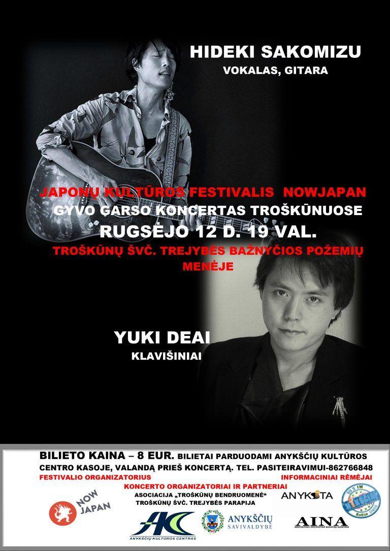 """Japonų kultūros festivalis """"NOWJAPAN"""" / Gyvo garso koncertas Troškūnuose"""