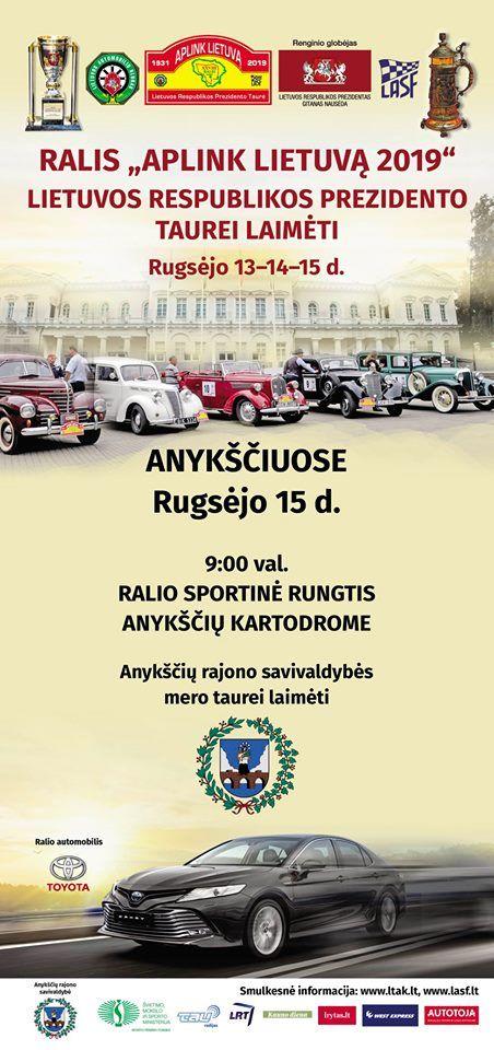 """Ralis """"Aplink Lietuvą 2019"""" / Ralio rungtis Anykščių kartodrome"""