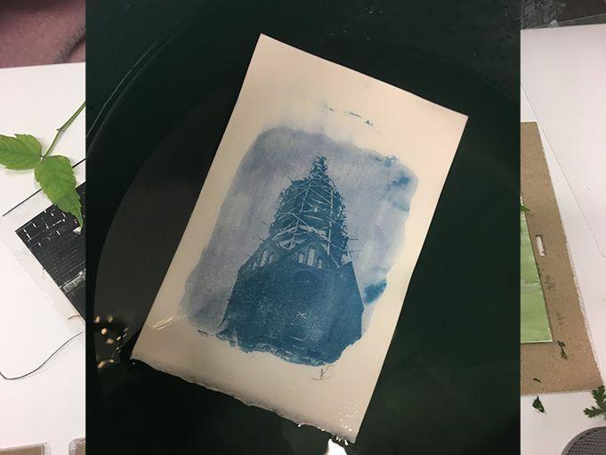 Turizmo naktis (2019) / Cianotipijos (mėlynųjų antspaudų) dirbtuvės