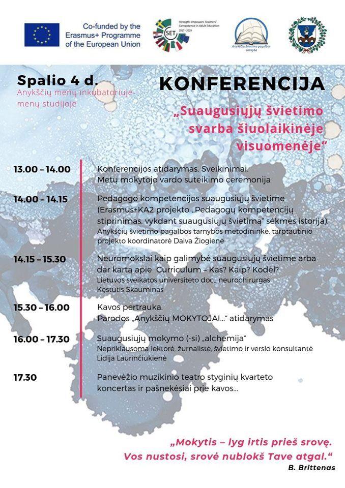 """Konferencija """"Suaugusiųjų švietimo svarba šiuolaikinėje visuomenėje"""""""