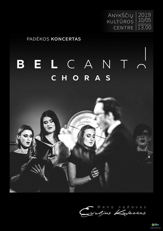 """Vilniaus mokytojų namų choro """"Bel Canto"""" koncertas"""