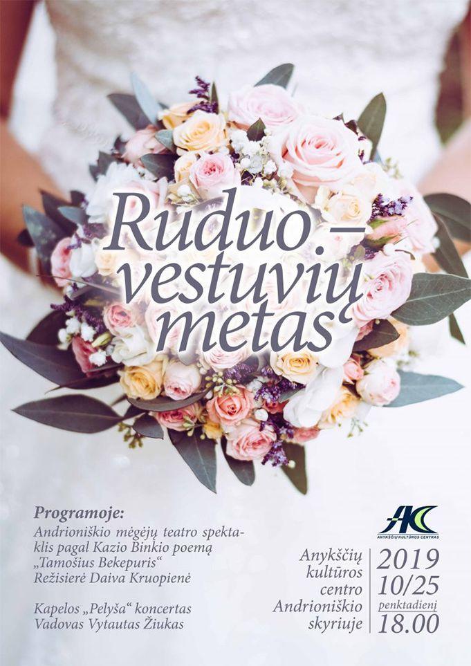 """Renginys """"Ruduo – vestuvių metas"""""""