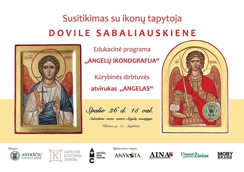 Susitikimas su ikonų tapytoja Dovile Sabaliauskiene