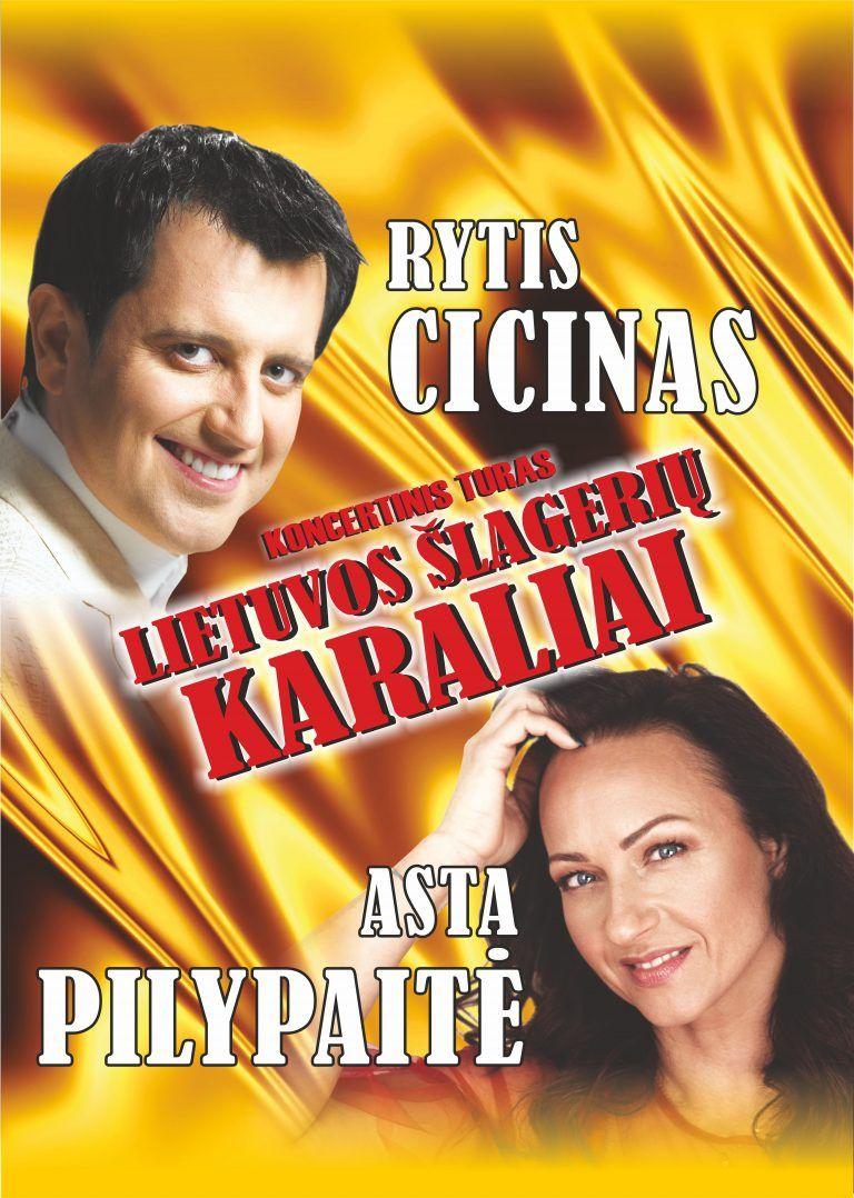 Lietuvos šlagerių karaliai Rytis Cicinas ir Asta Pilypaitė