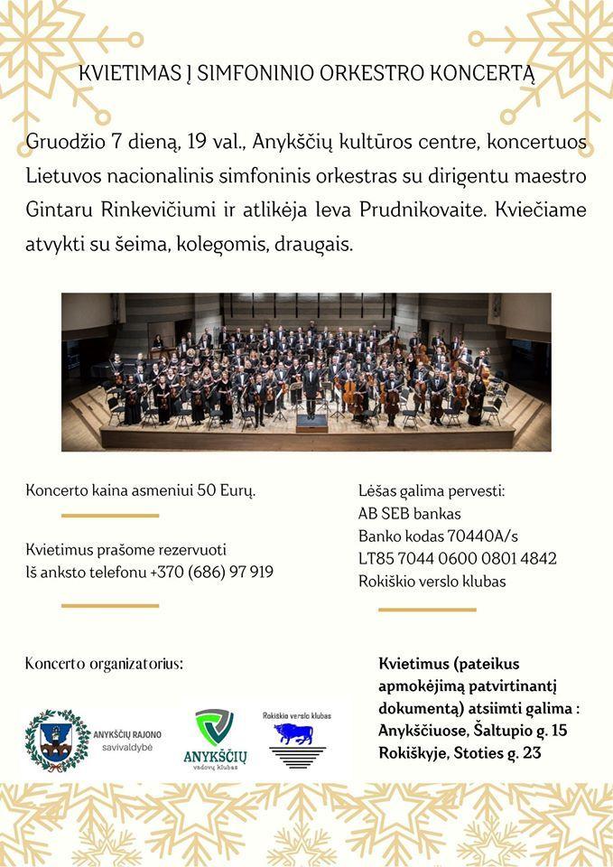 Koncertuoja Lietuvos nacionalinis simfoninis orkestras