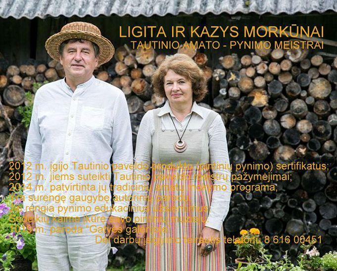 Ligitos ir Kazio Markūnų tautinių amatų paroda