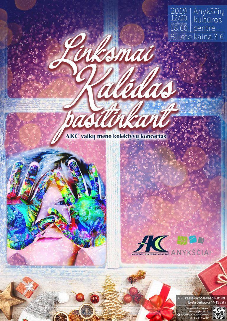 """AKC vaikų meno kolektyvų koncertas """"Linksmai Kalėdas pasitinkant"""""""