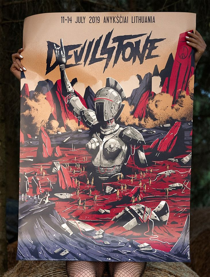 """Festivalis """"Devilstone"""" (2019) - Pirmoji diena"""