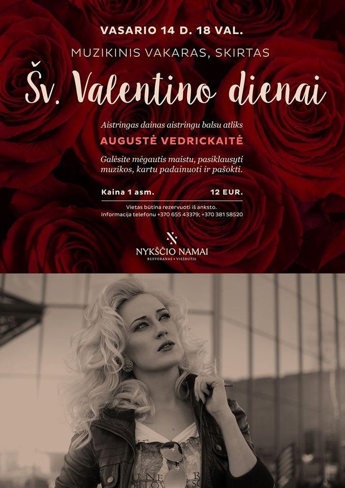 Muzikinis vakaras, skirtas Šv. Valentino dienai