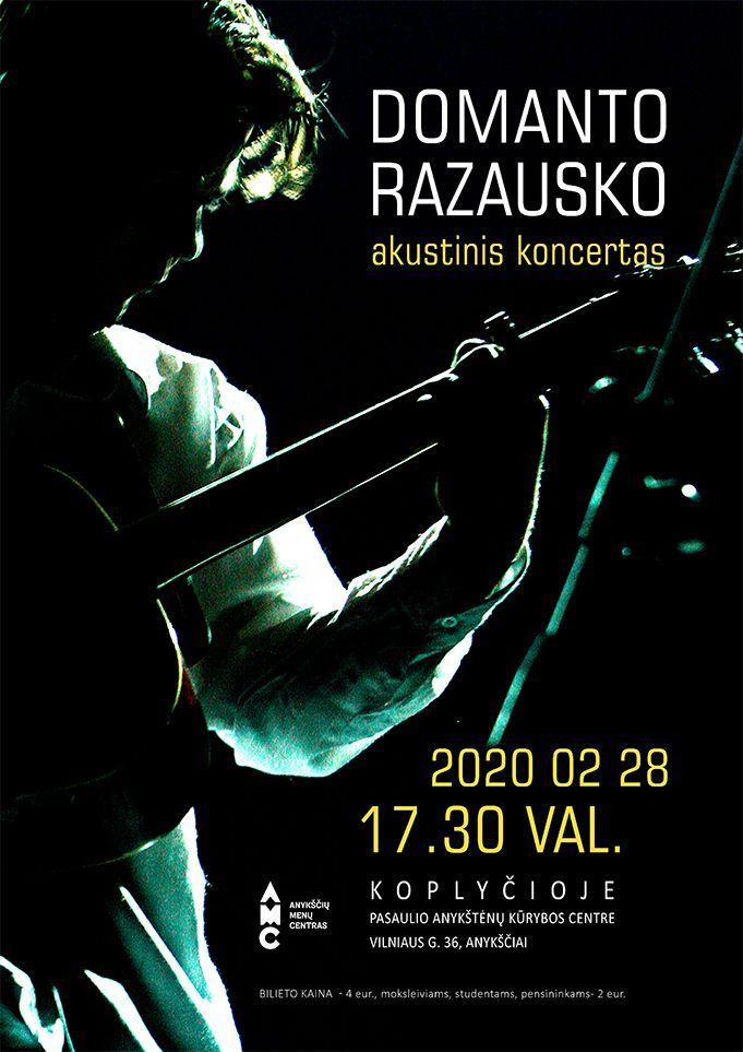 Domanto Razausko akustinis koncertas Anykščiuose
