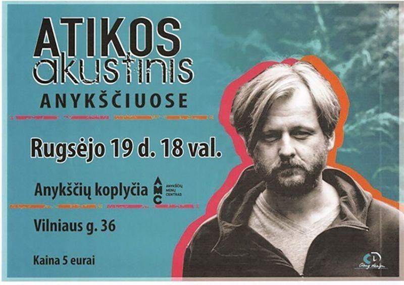 """Akustinis """"ATIKOS"""" koncertas Anykščių koplyčioje"""