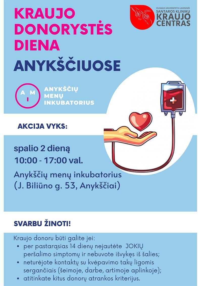 Kraujo donorystės diena Anykščiuose