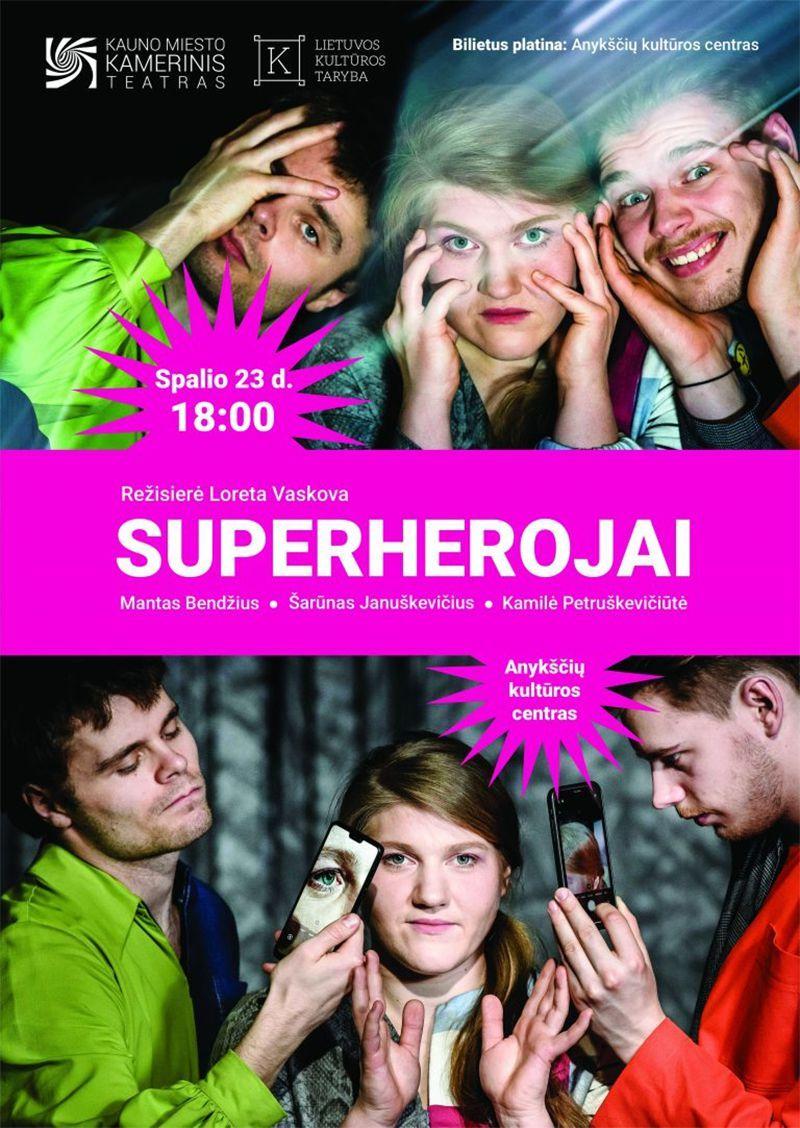 """Teatrų festivalis """"Pakeleivingi"""" (2020) / Spektaklis """"Superherojai"""""""