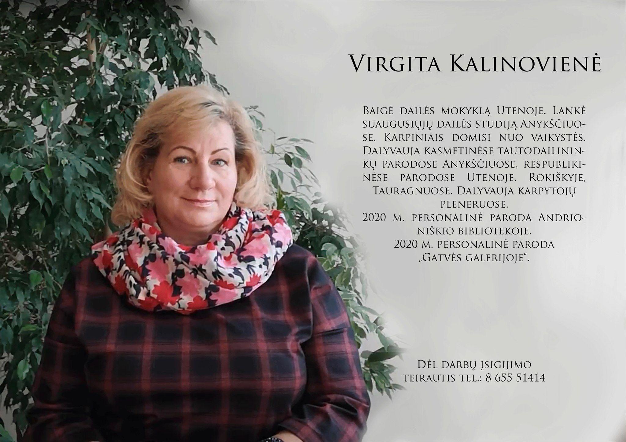 Virgitos Kalinovienės karpinių paroda