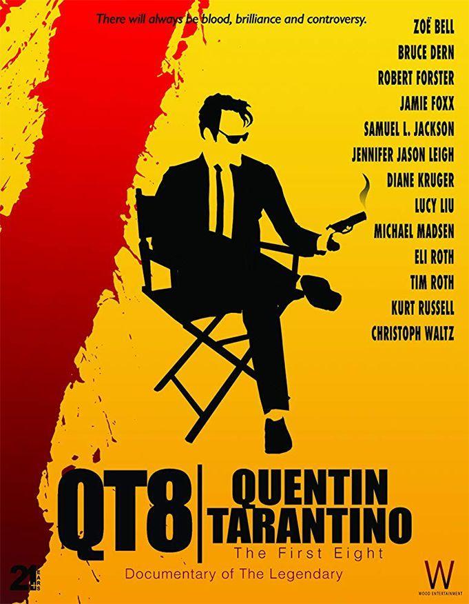 """Tara Wood """"QT8: Quentin Tarantino"""" (2019, trukmė 1:43)"""