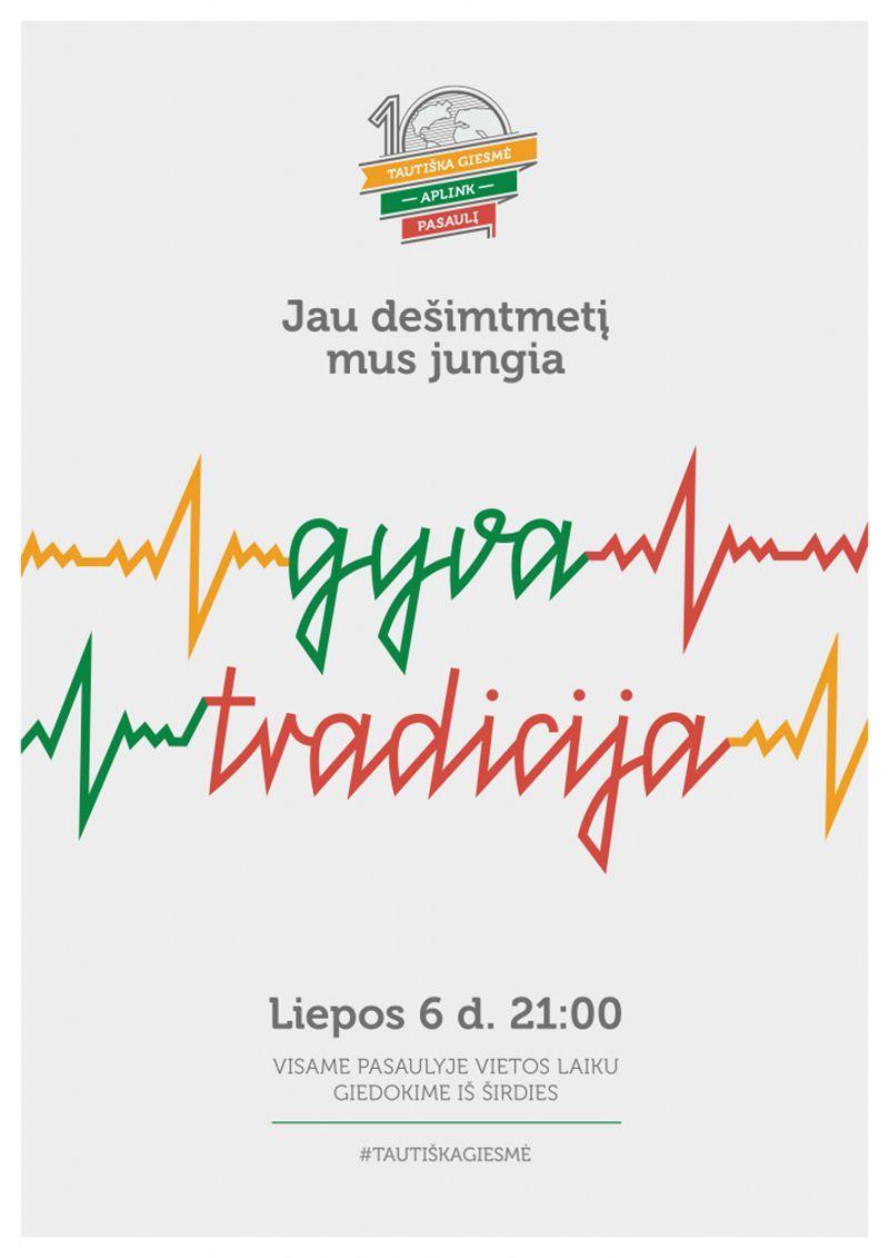 """Valstybės (Lietuvos karaliaus Mindaugo karūnavimo) diena (2021) / """"Tautiška giesmė aplink pasaulį"""" Burbiškyje"""