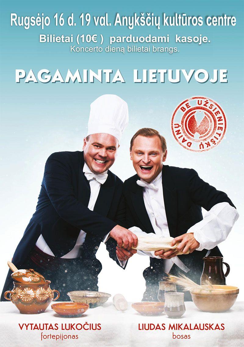 """Koncertinė programa """"Pagaminta Lietuvoje"""". (Liudas Mikalauskas ir Vytautas Lukočius)"""