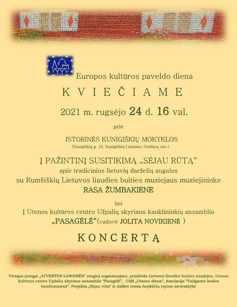 Europos paveldo diena Kunigiškių kaime
