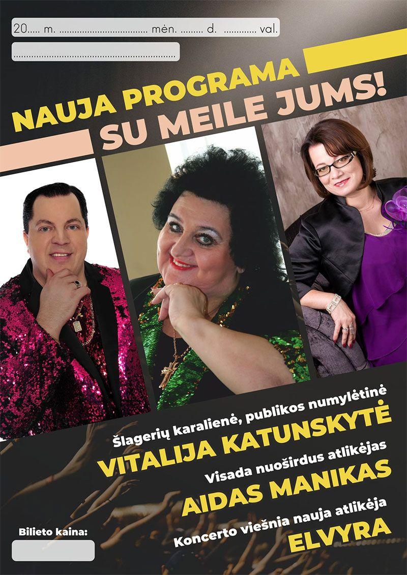 """Vitalijs Katunskytės koncertas """"Su meile jums"""" Viešintų bendruomenės namuose"""
