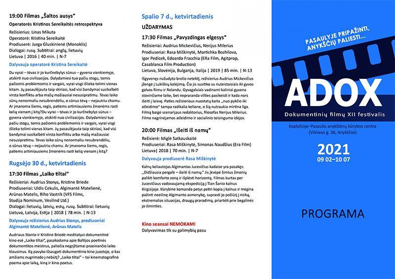 """Dokumentinų filmų XII festivalis """"Adox"""" /  Pepe Andreu, Rafael Molés filmas """"Omarų sriuba"""" (2021m., tukmė 1 val. 37 min)"""