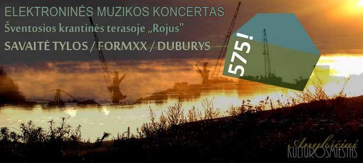 """ELEKTRONINĖS MUZIKOS KONCERTAS - Šventosios krantinės terasoje """"ROJUS"""""""
