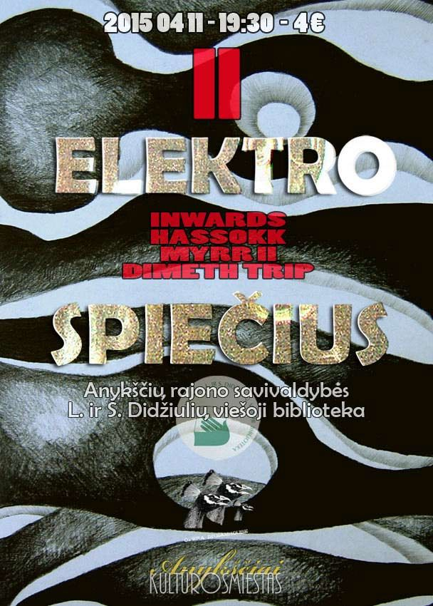 """Elektroninės muzikos koncertas """"ELEKTROSPIEČIUS II"""""""
