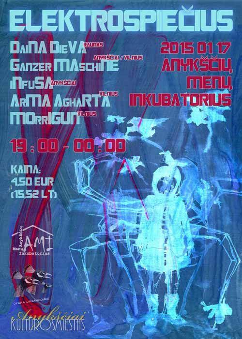 """Elektroninės muzikos koncertas """"ELEKTROSPIEČIUS"""""""