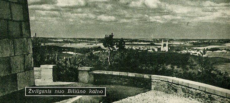 J. Biliūno kapas ir paminklas ant Liudiškių kalvos / Laimės žiburys