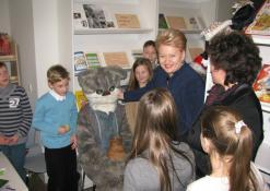 D. Grybauskaitė bendrauja su mokiniais