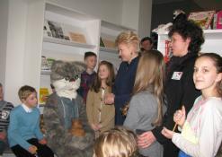 Dalia Grybauskaitė bendrauja su mokiniais