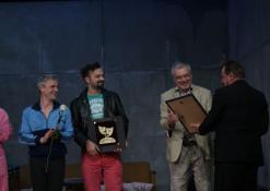 Aktorius sveikina Anykščių vicemeras Sigutis Obelevičius