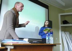 Užduotis mokiniams, paskaitą veda Rokas Žilinskas
