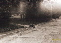 Gatvėse žaidžiantys vaikai