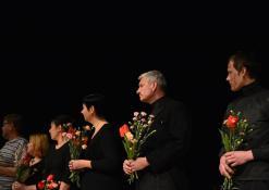 Iš kairės į dešinę: T. Alte, S. Šerelienė, J. Gnedova, E. Ražanienė, Ž.P. Smalskas, G. Kazakevičius