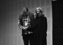 """Režisierius Ervinas Koršunovas ir aktorė - Laura Varnauskaitė. Teatras """"MI"""""""