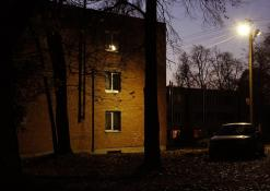 Naujieji Elmininkai - Gyvenamieji namai vakare - Spalio 26 d.