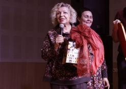 Prie mikrofono Dijana Petrokaitė
