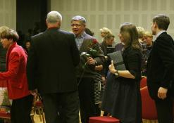 Žilviną Praną Smalską sveikina kolegos ir draugai