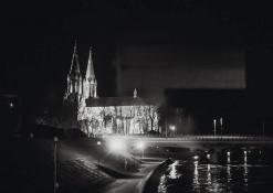 Anykščių naktinė panorama