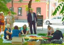 Meras Kęstutis Tubis bendrauja su Troškūnų bendruomenės kolektyvu