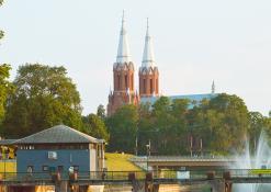 Anykščių miesto panorama