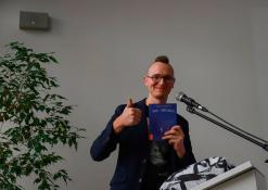 2018 11 15 - Susitikimas su vaikų rašytoju Tomu Dirgėla